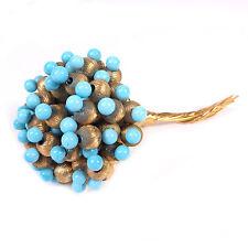 "Early Vintage Blue Floral Bouquet DeNicola Brooch Pin 38 grams 3.25"" Designer"