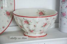 Greengate Bowl Schälchen Schale Schüssel Flora White Porzellan Vintage