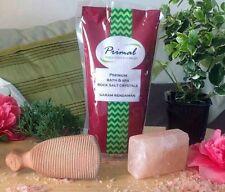 Natural del Himalaya Sal De Roca Paquete de Regalo de Navidad Jabón de Baño + + Depurador de talón Sal de Baño