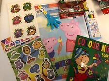 6 Item Peppa Pig Pre Filled Goody Bag, Ready Made Birthday Party Loot Favours