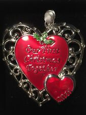 Harvey Lewis Our First Christmas Together 2016 Heart Ornament Swarovski Crystals