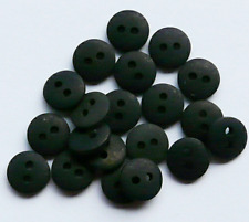 NEW PACK X 20 BLACK MATT PASTEL DOME  BUTTONS SIZE 14 (9mm) BABY CRAFT SEWING