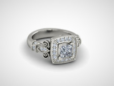 White Sapphire 925 Sterling Silver Antique Ring -#W7-156