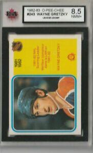 1982-83 OPC #243 Wayne Gretzky NHL Scoring Leader Graded KSA 8.5