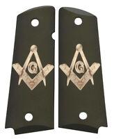Custom Full Size 1911 Grips Ambidextrous Mason Masonic Emblem Colt Kimber etc.