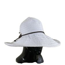 Target White Womens Floppy Sun Hat Bohemian Beach Sun Blocking Hat