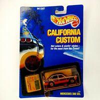 Hot Wheels California Custom  Mercedes 380 SEL #3368  Die Cast - Mattel 1989