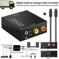 Optical Coaxial Digital to Analog Audio Converter Adapter Black H6L0 NEW H2I2