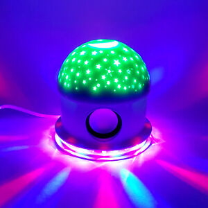 Portable Mini USB Bluetooth Speaker With Lights Flashing Party Lights Gift
