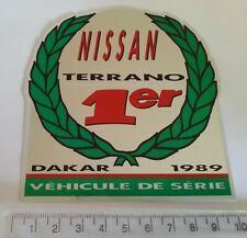 NISSAN TERRANO DAKAR 1989 Original STICKER/AUTOCOLLANT