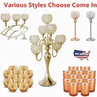 13 Styles Candle Holder Tealight Candlestick Lamp Gold/Silver Christmas Decor