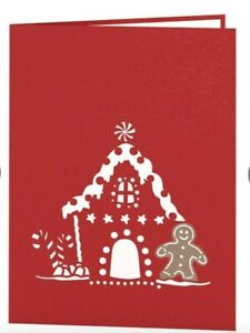 Lovepop Gingerbread House Pop-Up 3-D Card 5 cards for $25