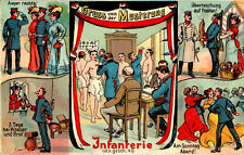 Erster Weltkrieg (1914-18) Sammler Normalformat Motiv Lithographien