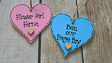 FLOWER GIRL PAGE BOY BRIDESMAID MAID OF HONOUR WOODEN HEART GIFT TAGS
