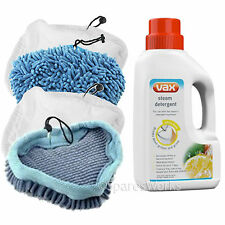 4 x Cloths Covers Pads for QUEST 9 in 1 Premium Steam Cleaner Mop + Detergent
