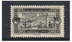 Lebanon - 1927, 4p on 0p25 (LIBANA Surch ISE missing) - V/L/M - SG 110