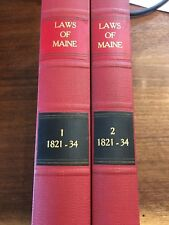 1834 2 Volume Set Laws of the State of Maine Francis O. J. Smith Law Books
