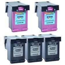 Compatible with 3 Black+2 Color 61XL Ink For HP Deskjet 2514 2540 2542 3000 3050