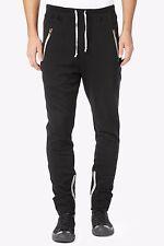 Hudson Jeans Blackout Pant Button Front Slim Sweat Pants $198 Size Medium M 1755