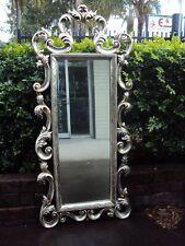 Silver Ornate Floor Paola Mirror