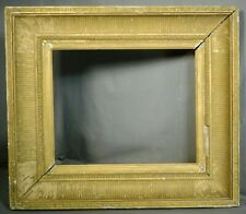 Freeman 19th c. Neoclassical Foliate Corner Fluted Gilt Picture Frame England