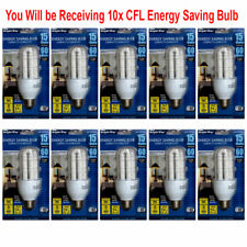 10 CFL 15W Light Bulb Energy Saving Replacing 60W 120V 60Hz 3000K Warm White E26