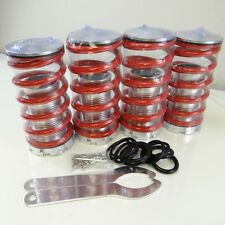 "Adjustable 1""- 4"" Lowering Suspension Coil over Coil Springs Red for Honda Civic"