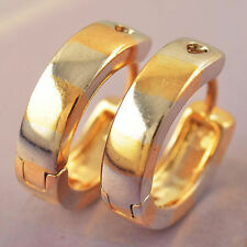 Gf 15Mm Hoop Earrings. 2-Colour White Yellow Gold Filled