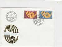 switzerland helvetia europa 1973 stamps cover ref 20236