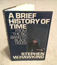 Stephen Hawking - A Brief History of Time - HB/DJ 1st ed / 3rd ptg Black Holes