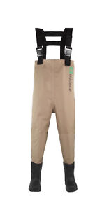Nwt Oakiwear Kid's 6/7 Shoe Size 1Y Tan Breathable Waders MISSING WADER BELT