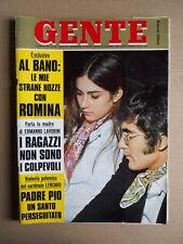 GENTE n°22 1969 Albano e Romina Power Ermanno Lavorini Maria Callas [D53]