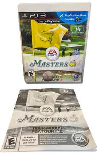 PGA Masters Tiger Woods PGA tour 12 W Manual PS3 PlayStation 3 Game