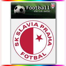 "SK Slavia Praha UEFA Die Cut Vinyl Sticker Car Bumper Window 4""x4"""