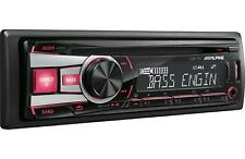 ALPINE CDE-151E CAR CD WMA iPHONE iPOD PLAYER EQUALIZER STEREO RADIO AUX USB MP3