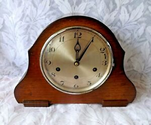 VINTAGE JUNGHANS / H.A.C WESTMINSTER CHIME MANTEL CLOCK.WORKING ORDER 1930's-40s