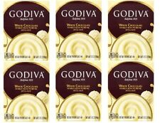 Godiva White Chocolate Vanilla Bean Instant Pudding Mix 6 Pack