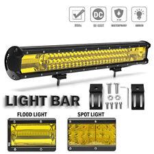 22 Inch 648W Yellow LED Work Light Bar Flood Spot Driving Fog Lamp Offroad Truck