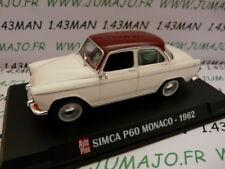 AP43N Voiture 1/43 IXO AUTO PLUS : SIMXCA P60 Monaco 1962