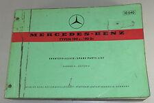 Teilekatalog Mercedes Benz W121 Ponton 190c - 190 Dc Stand 08/1961