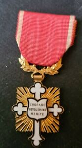 French Medal Courage Devouement Merite