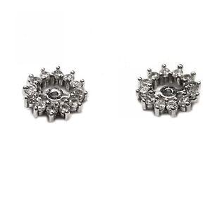 Diamond earring jackets 43pts. t.w for stud earrings in 14kt white gold