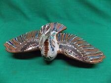 Lrg Ken Edwards Mexico pottery bird with wings spread figurine El Palomar? vtg?