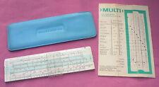 Vintage MEISSNER KG DDR - MULTI - Slide Rule In Vinyl Blue Case