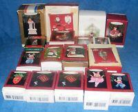 Lot Of 17 Vintage Hallmark Christmas Keepsake Ornaments In Boxes