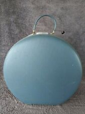 Vintage American Tourister Round Blue Train Case Luggage Suicase