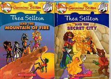GERONIMO STILTON: THEA STILTON x 2 MOUNTAIN OF FIRE AND THE SECRET CITY