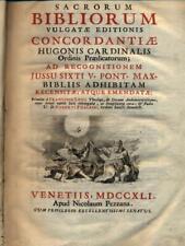SACRORUM BIBLIORUM PRIMA EDIZIONE AA.VV. APUD NICOLAUM PEZZANA 1741