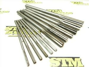 """LOT OF 12 ASSORTED HSS CHUCKING REAMERS 3/16"""" TO .6299"""" DIA YANKEE L&I"""