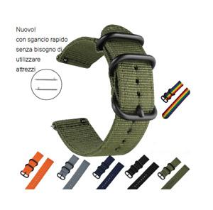Cinturino Cordura doppio strato spesso passanti acciaio ansa 20 mm robusto moda